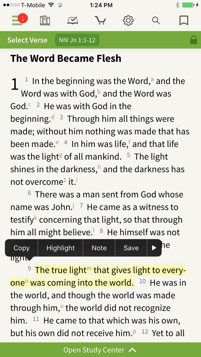NIV Bible by Olive Tree Screenshot