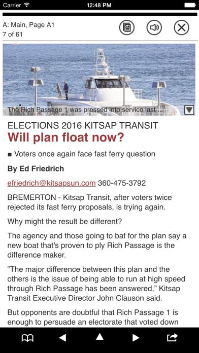 Kitsap Sun E-Edition Screenshot on iOS