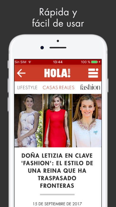 ¡HOLA! ESPAÑA Sitio web Screenshot on iOS