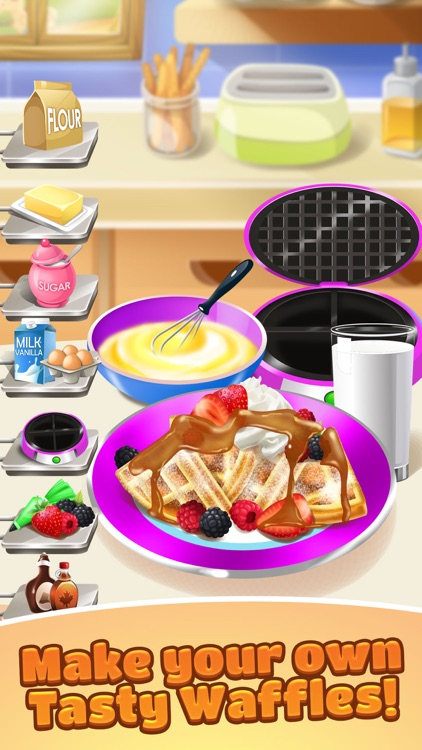 Waffle Food Maker Cooking Game