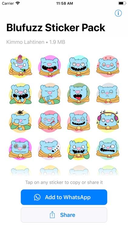 Blufuzz Animated Stickers