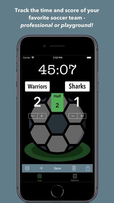 Simple Soccer Scoreboard screenshot 1