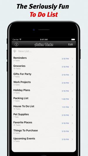 Action Tasks - To Do List Screenshot