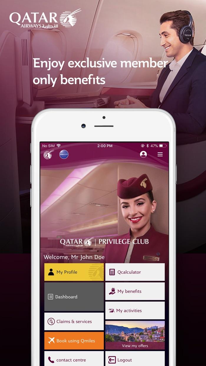 Qatar Airways Screenshot