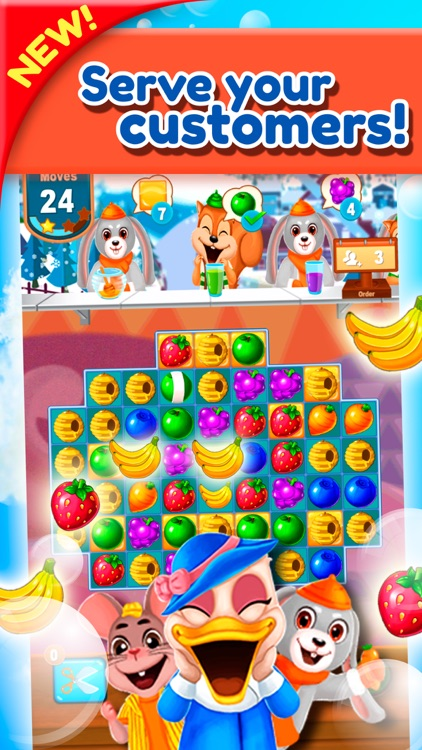 Sweet Fruit Jam Match 3 Game screenshot-3
