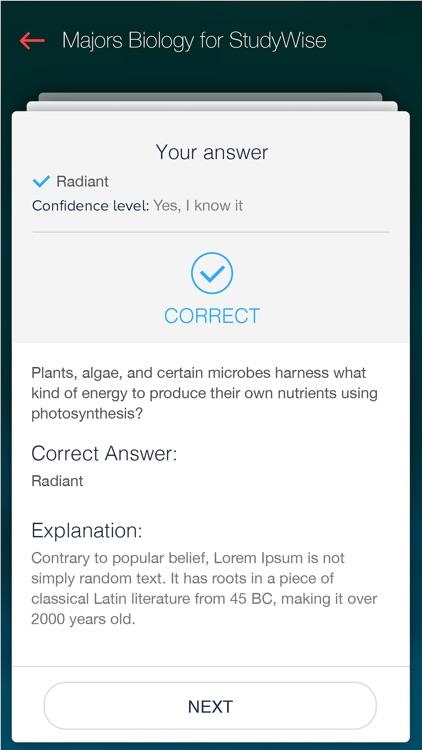 StudyWise Majors Biology screenshot-4