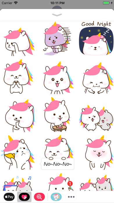 Bunnycorn Animated Stickers screenshot one