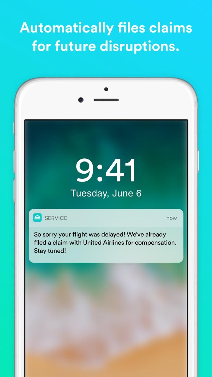 Service – for flight delays Screenshot
