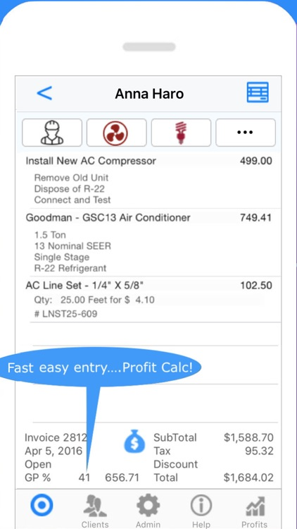 Electrician Invoice & Estimate screenshot-1