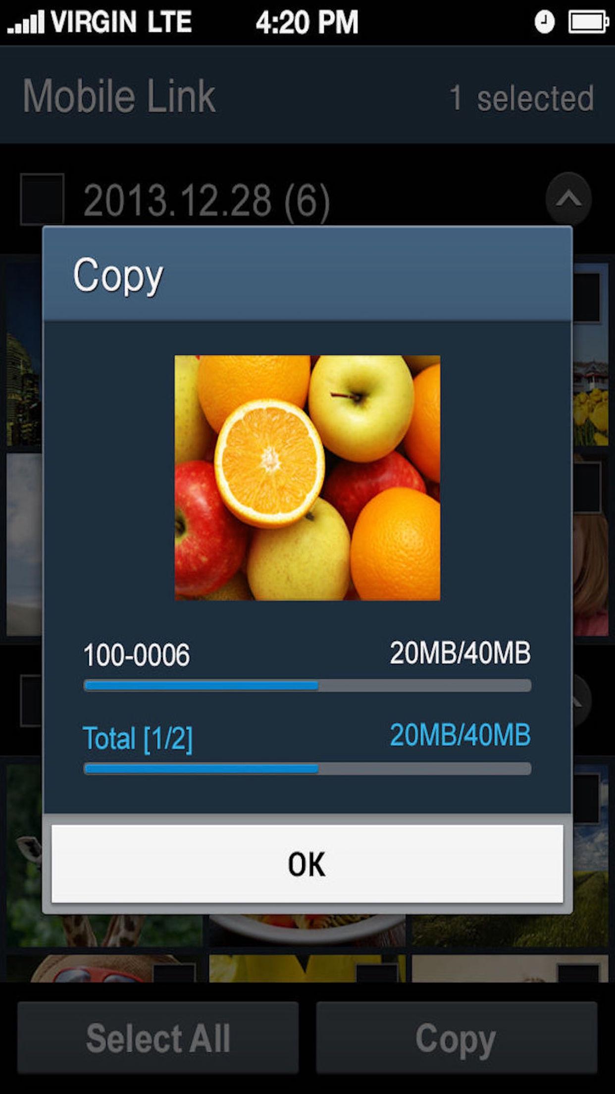 Samsung SMART CAMERA App Screenshot