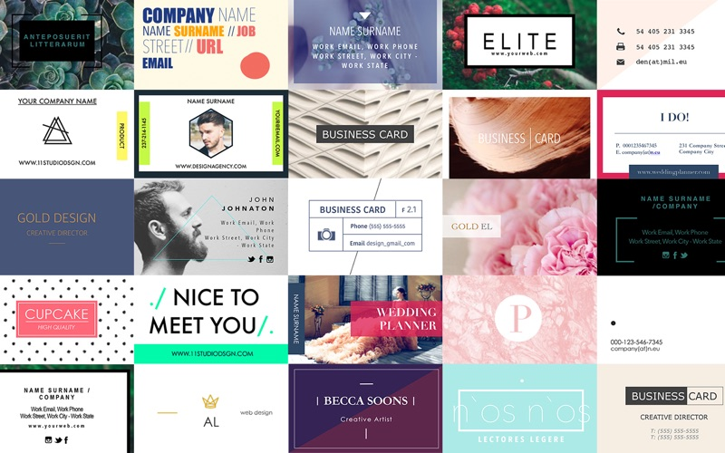 Business Cards Templates for Pages Screenshot