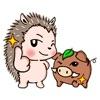 Hedgehog And Wild Hog Sticker