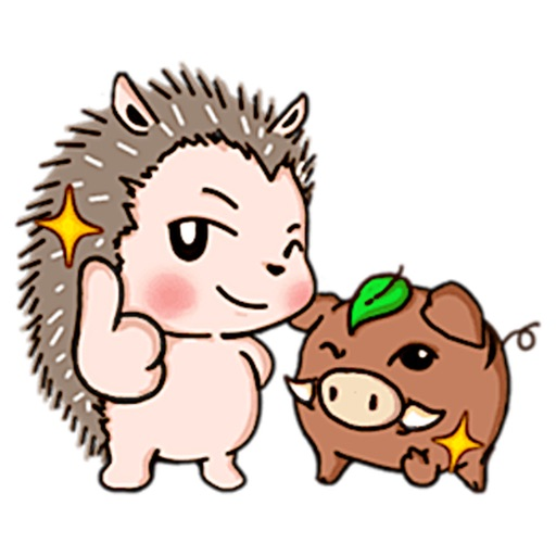 Hedgehog And Wild Hog Sticker icon