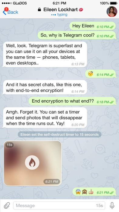 Screenshot for Telegram Messenger in Brazil App Store