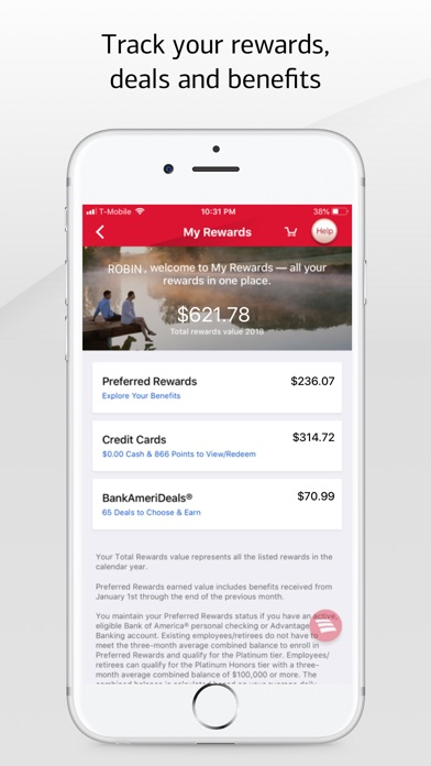 Bank of America Mobile Banking iPhone