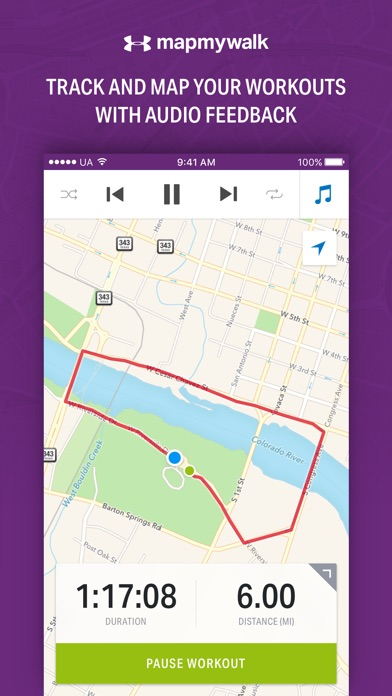 Map My Walk by Under Armour app image