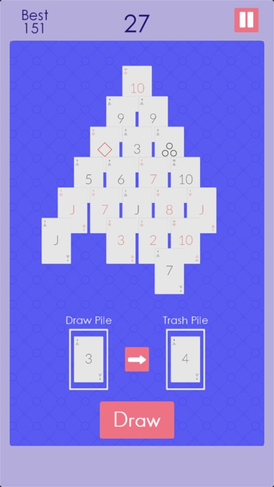 Endless Pyramid Solitaire screenshot 3