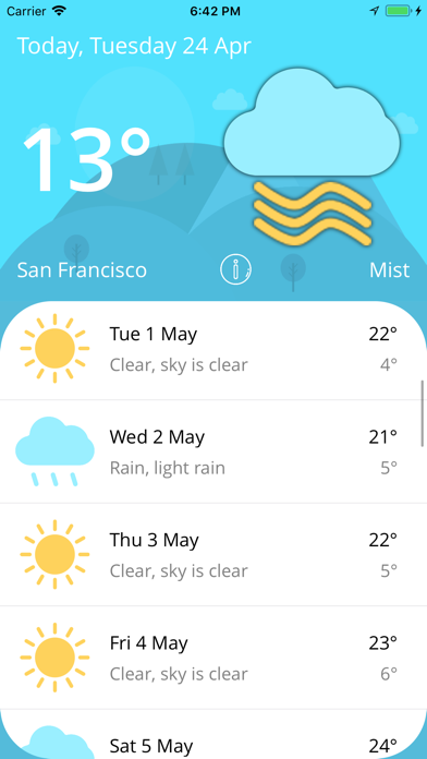 Weather - Live Forecast screenshot one