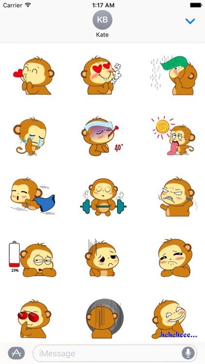 Animated Lovely Monkey Sticker