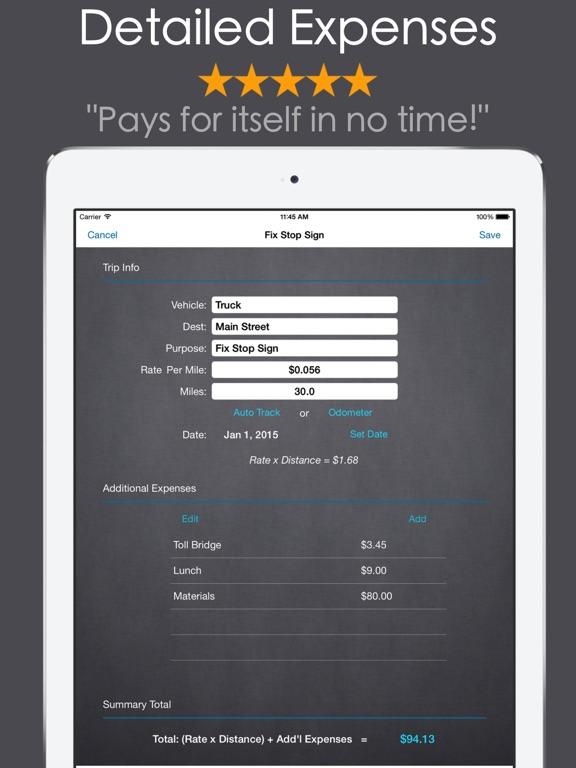 mileage expense log mel pro app price drops