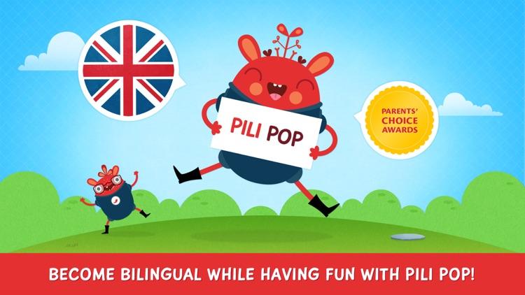 Pili Pop English: learn English for kids screenshot-0