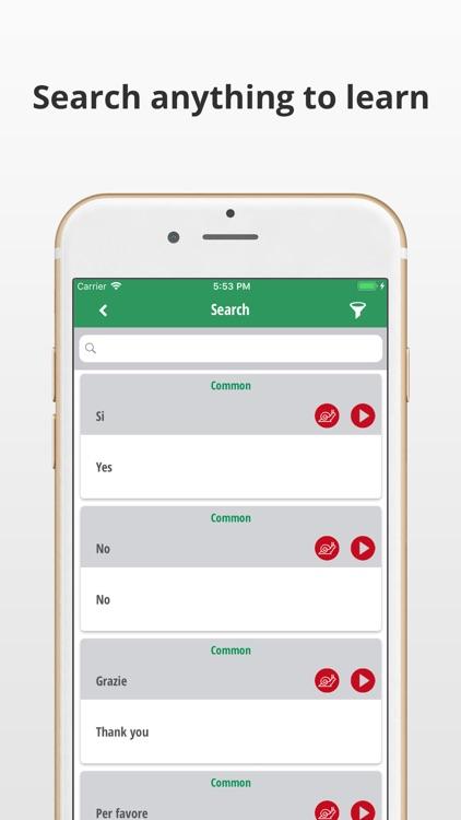 Learn Italian Language App screenshot-3
