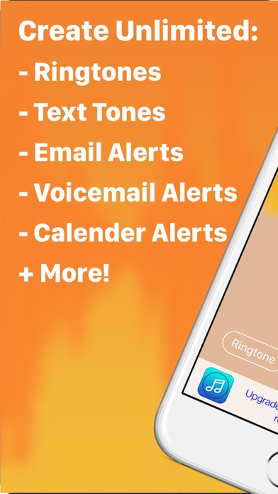 Screenshots of Ringtone Designer - Create Unlimited Ringtones, Text Tones, Email Alerts, and More! for iPhone