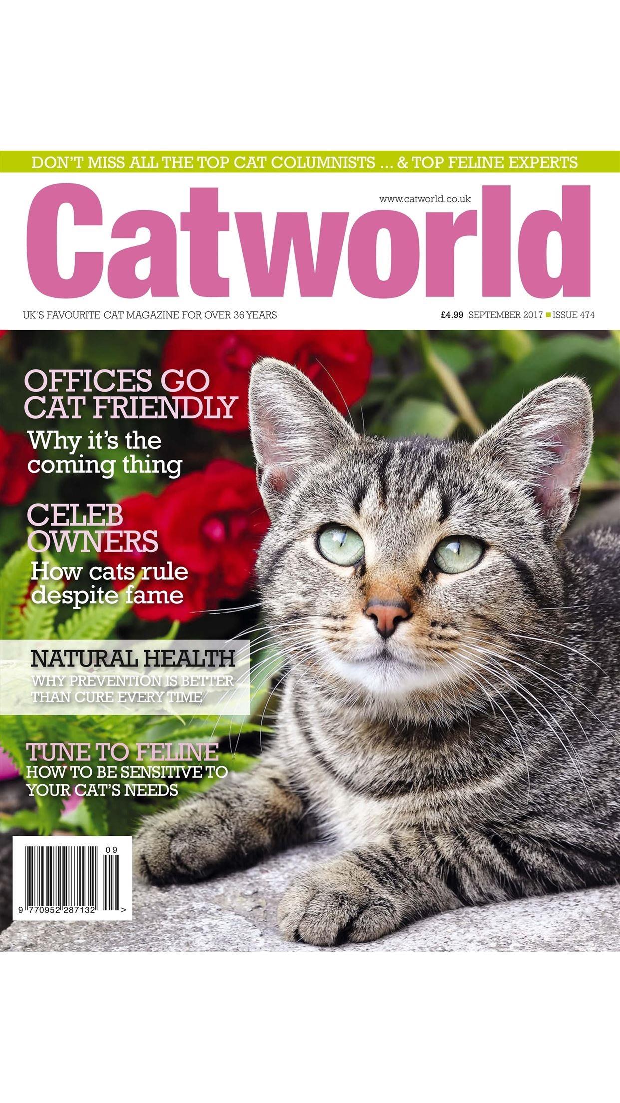 Catworld Magazine - Cat World is the UK's favourite cat magazine Screenshot