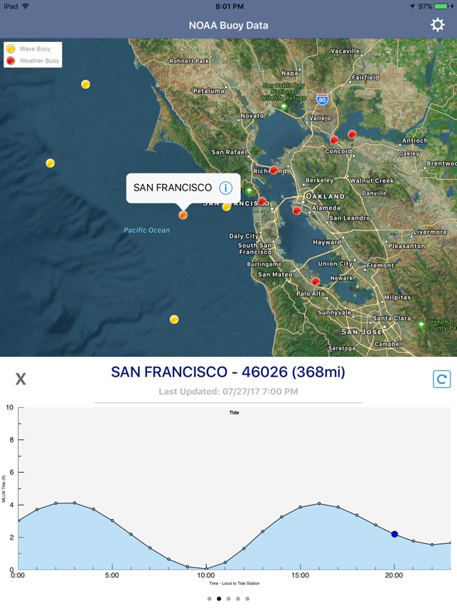 Ocean Water Temperature on the App