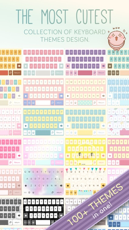 Pastel Keyboard Themes Color screenshot-4
