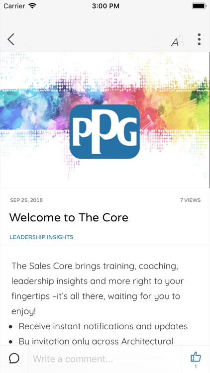 PPG - The Core