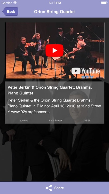 Orion String Quartet screenshot-3