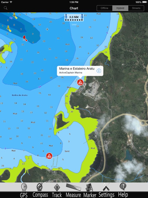 Brasil GPS Nautical Charts Pro screenshot-1