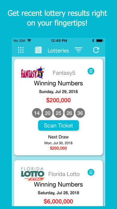 Florida Lottery Scan & Results by Md Abu Shahriar Ratul (iOS