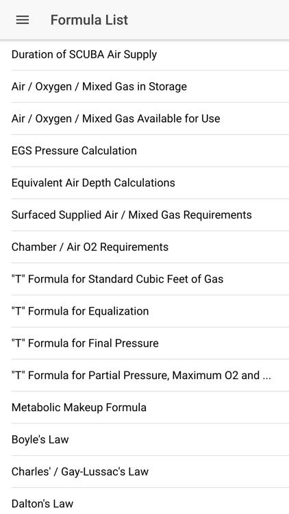 US Navy Dive Manual/Calculator