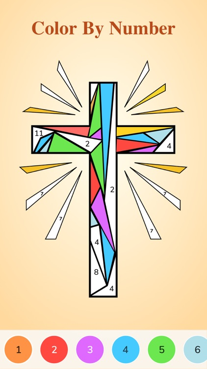 Bible Coloring-Color By Number screenshot-0