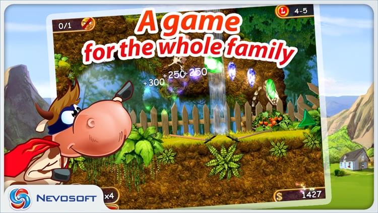 Supercow: funny farm arcade platformer Lite screenshot-4