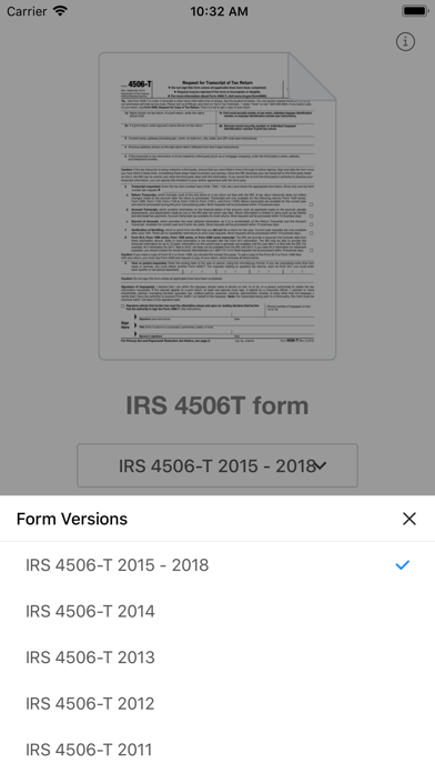 4506T Form - App - Apps Store