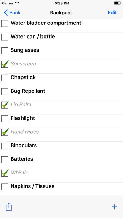 点击获取Backpacking Checklist