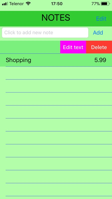 Todo Notes List screenshot one