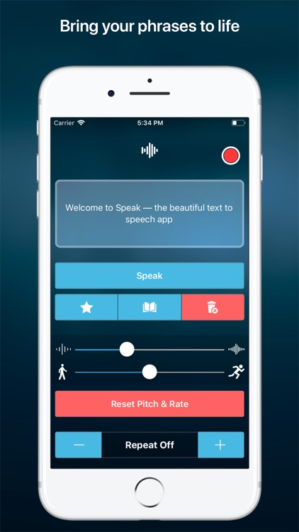 Speak • Speech Synthesizer screenshot-0