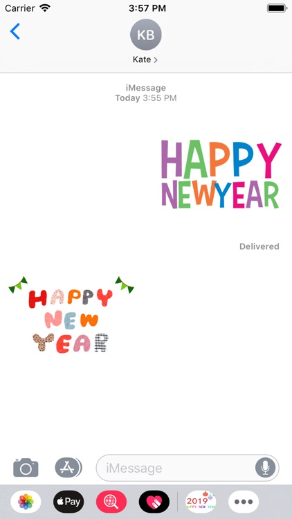 wish New Year stickers 2019