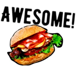 Love Burger BurgerMoji Sticker
