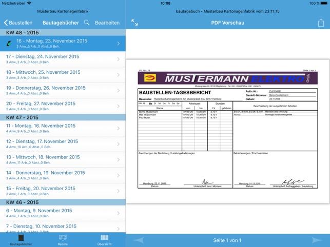 Bautagebuch (Site Diary) Screenshot