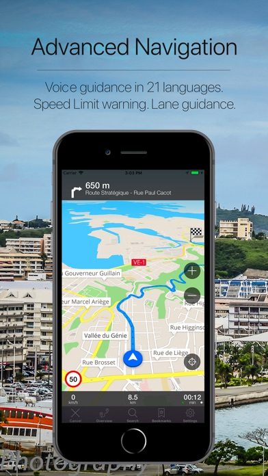 Screenshot for New Caledonia Navigation in United Arab Emirates App Store