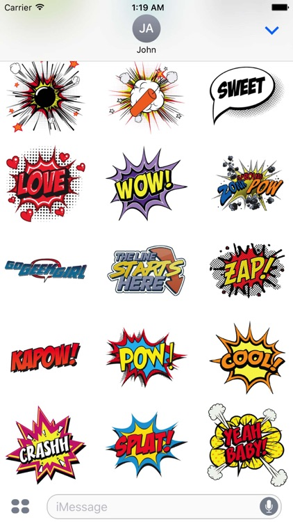 Pow Comic Sticker Pack screenshot-2