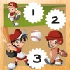 123 Count-ing Kids Game & Learn-ing Number-s with Baseball Stars