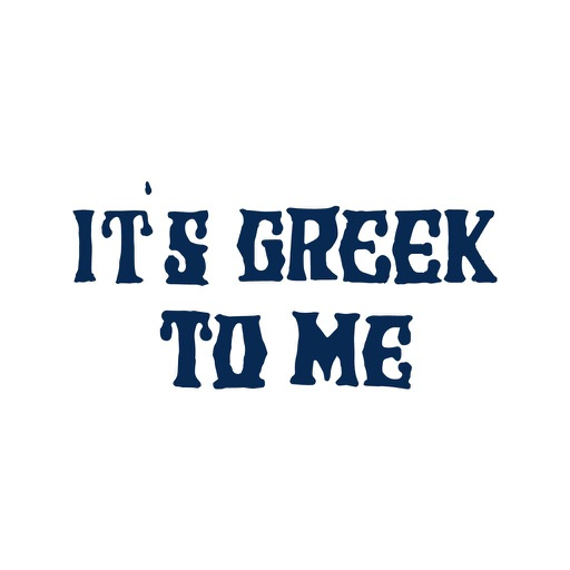 It's Greek To Me To Go icon