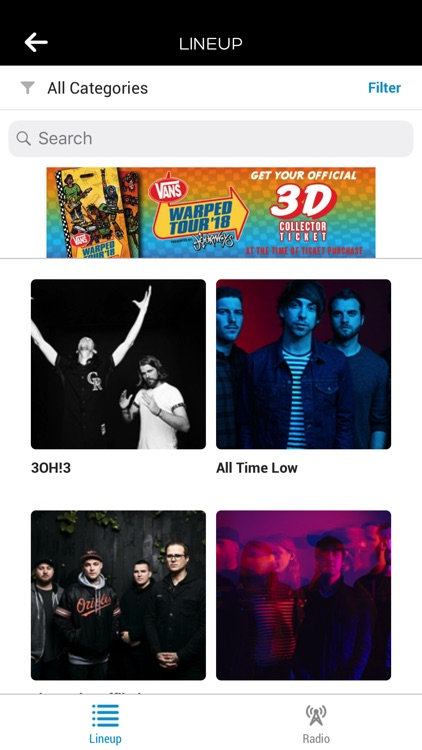 Vans Warped Tour Official App