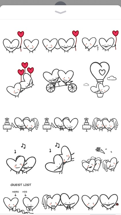 Heart Valentine Stickers